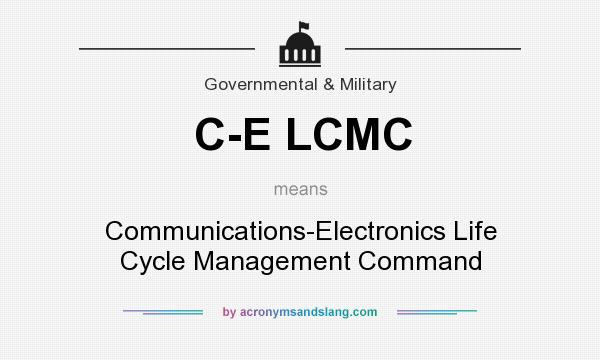 What does C-E LCMC mean? It stands for Communications-Electronics Life Cycle Management Command
