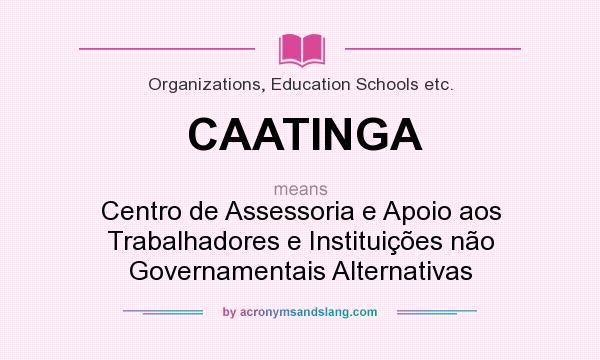 What does CAATINGA mean? It stands for Centro de Assessoria e Apoio aos Trabalhadores e Instituições não Governamentais Alternativas
