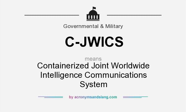 What does C-JWICS mean? It stands for Containerized Joint Worldwide Intelligence Communications System