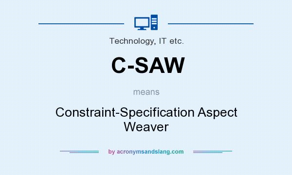 What does C-SAW mean? It stands for Constraint-Specification Aspect Weaver