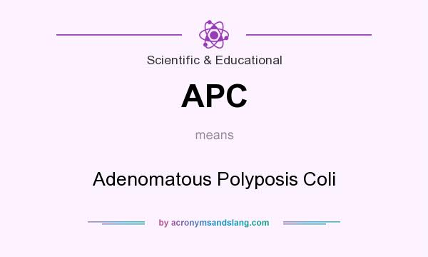 What does APC mean? It stands for Adenomatous Polyposis Coli