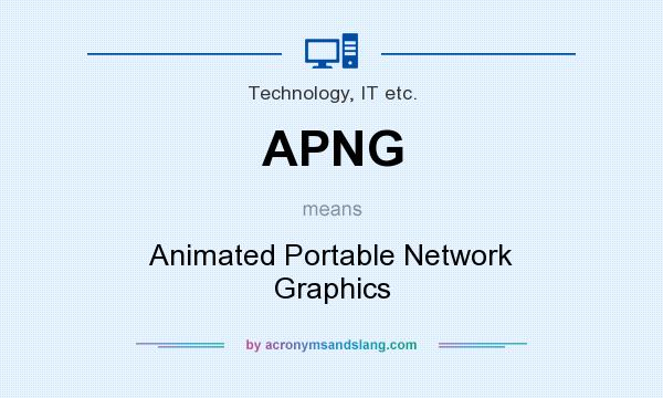 What does APNG mean? It stands for Animated Portable Network Graphics