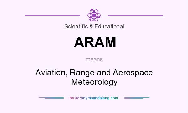 What does ARAM mean? It stands for Aviation, Range and Aerospace Meteorology