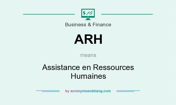 What does ARH mean? It stands for Assistance en Ressources Humaines