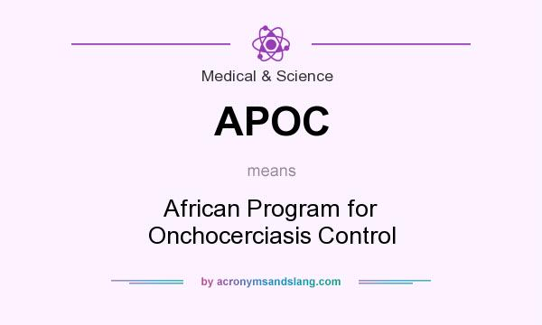 What does APOC mean? It stands for African Program for Onchocerciasis Control