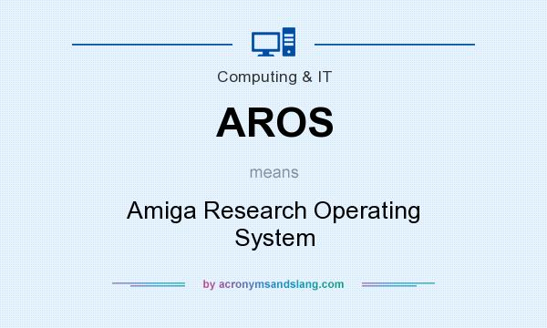 What does AROS mean? It stands for Amiga Research Operating System