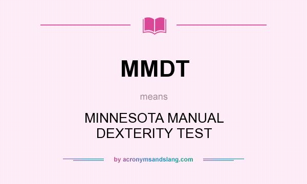 manual dexterity test examples dating