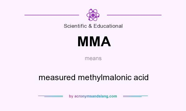 What does MMA mean? It stands for measured methylmalonic acid