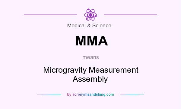 What does MMA mean? It stands for Microgravity Measurement Assembly