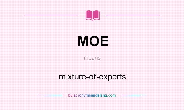 What does MOE mean? It stands for mixture-of-experts