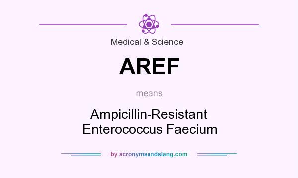 What does AREF mean? It stands for Ampicillin-Resistant Enterococcus Faecium
