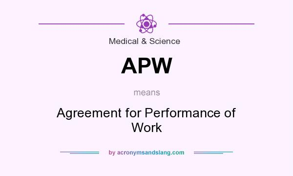 Apw Agreement For Performance Of Work In Medical Science By