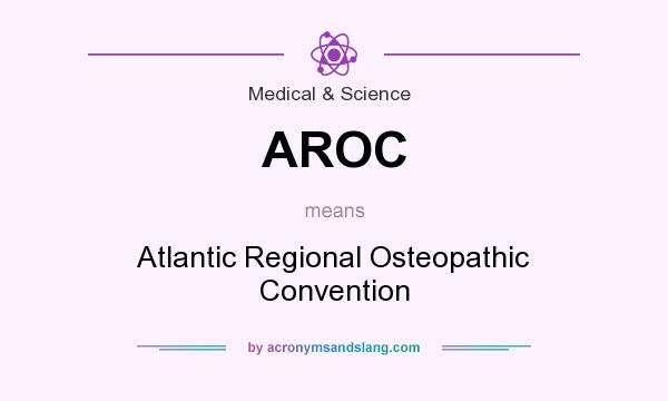 What does AROC mean? It stands for Atlantic Regional Osteopathic Convention