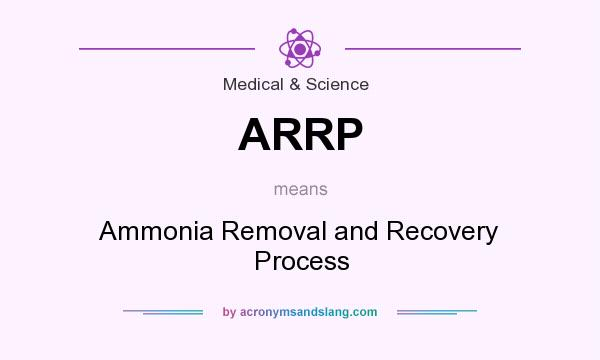What does ARRP mean? It stands for Ammonia Removal and Recovery Process