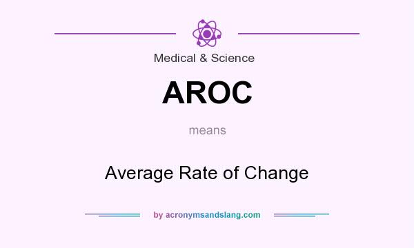 What does AROC mean? It stands for Average Rate of Change