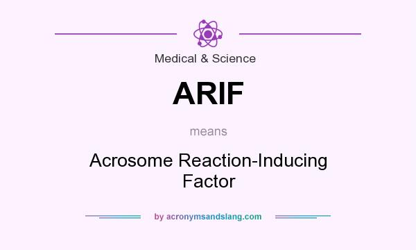 What does ARIF mean? It stands for Acrosome Reaction-Inducing Factor