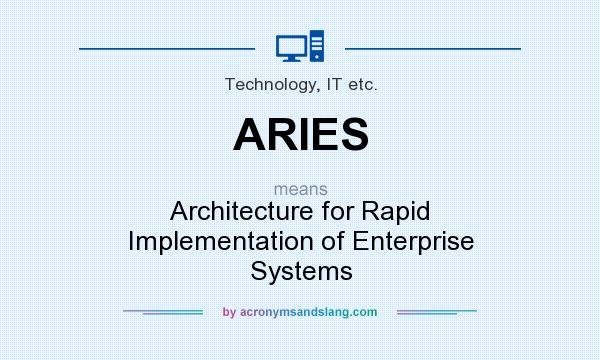 What does ARIES mean? It stands for Architecture for Rapid Implementation of Enterprise Systems