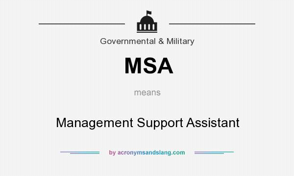 What does MSA mean? It stands for Management Support Assistant