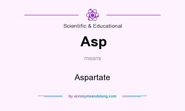 What does Asp mean? It stands for Aspartate