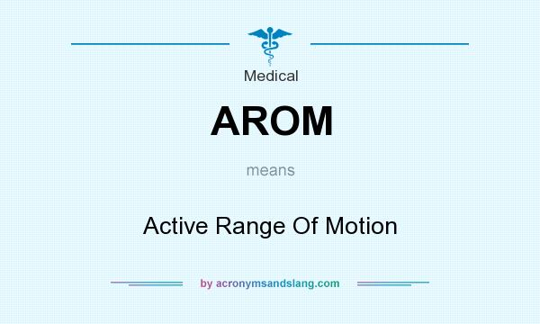 What does AROM mean? It stands for Active Range Of Motion