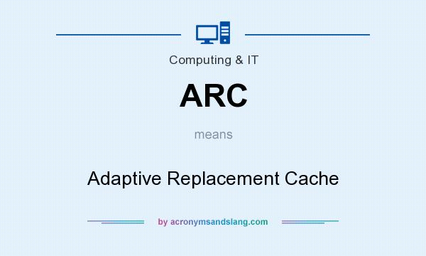 What does ARC mean? It stands for Adaptive Replacement Cache