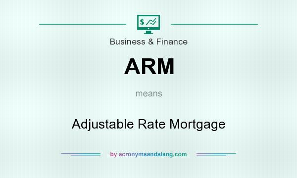 What does ARM mean? It stands for Adjustable Rate Mortgage