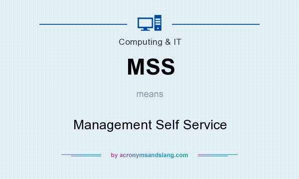 What does MSS mean? It stands for Management Self Service