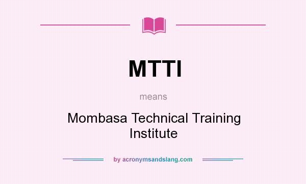 Mombasa Technical Training Institute Logo Mtti Mombasa Technical
