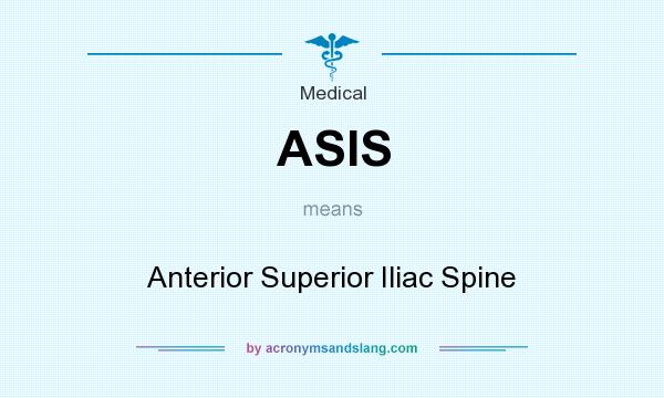 What does ASIS mean? It stands for Anterior Superior Iliac Spine