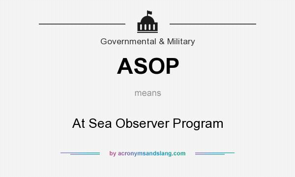 What does ASOP mean? It stands for At Sea Observer Program