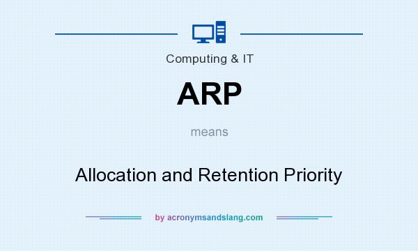What does ARP mean? It stands for Allocation and Retention Priority