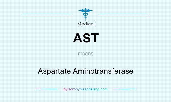 What does AST mean? It stands for Aspartate Aminotransferase