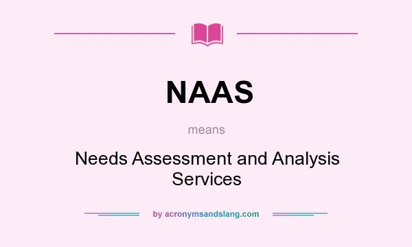 What does NAAS mean? It stands for Needs Assessment and Analysis Services