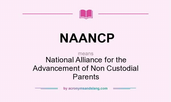 What does NAANCP mean? It stands for National Alliance for the Advancement of Non Custodial Parents
