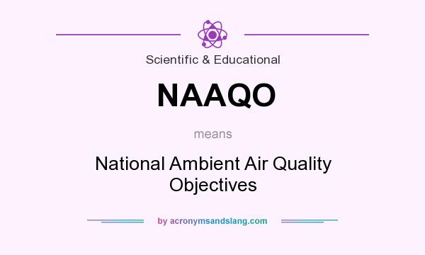 What does NAAQO mean? It stands for National Ambient Air Quality Objectives