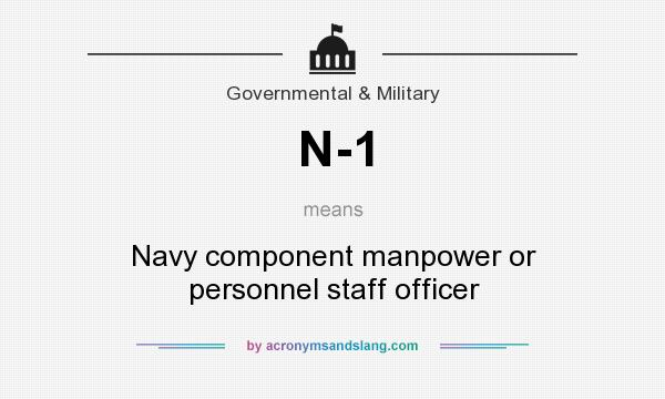 What does N-1 mean? It stands for Navy component manpower or personnel staff officer