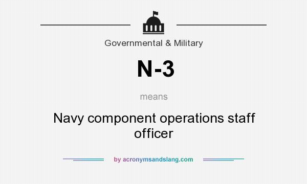 What does N-3 mean? It stands for Navy component operations staff officer