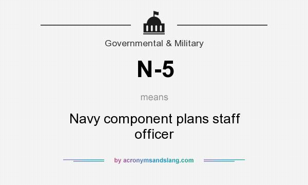 What does N-5 mean? It stands for Navy component plans staff officer