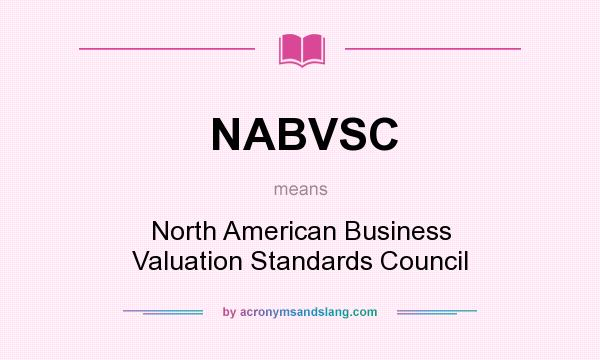 What does NABVSC mean? It stands for North American Business Valuation Standards Council