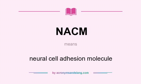 What does NACM mean? It stands for neural cell adhesion molecule