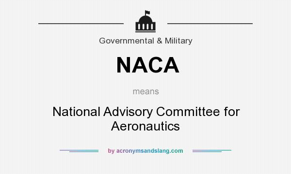 What does NACA mean? It stands for National Advisory Committee for Aeronautics