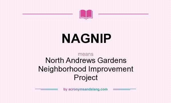 What does NAGNIP mean? It stands for North Andrews Gardens Neighborhood Improvement Project