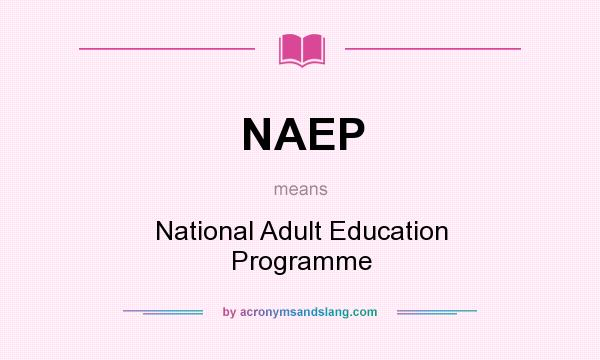 What does NAEP mean? It stands for National Adult Education Programme