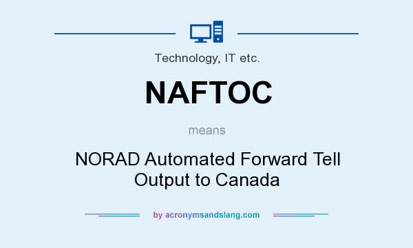 What does NAFTOC mean? It stands for NORAD Automated Forward Tell Output to Canada