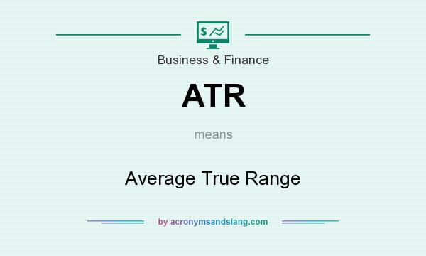 What does ATR mean? It stands for Average True Range