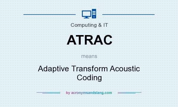What does ATRAC mean? It stands for Adaptive Transform Acoustic Coding