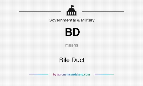 What does BD mean? It stands for Bile Duct
