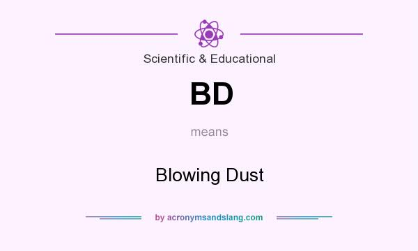 What does BD mean? It stands for Blowing Dust