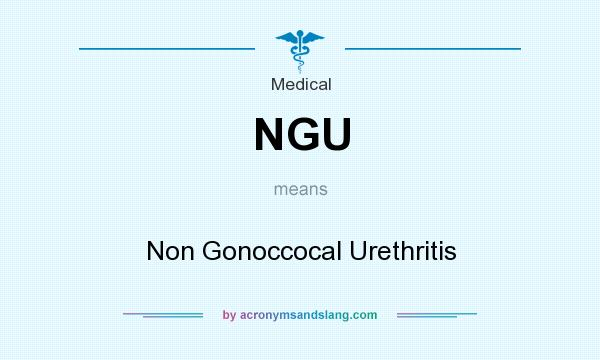 What does NGU mean? It stands for Non Gonoccocal Urethritis
