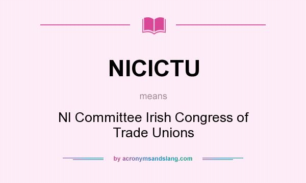 What does NICICTU mean? It stands for NI Committee Irish Congress of Trade Unions
